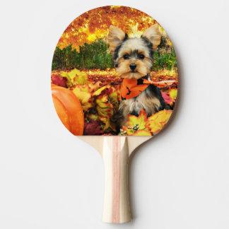 秋の感謝祭-最高-ヨークシャーテリア 卓球ラケット