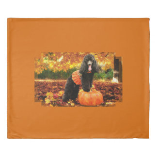 秋の感謝祭- Gidget -プードル 掛け布団カバー