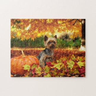 秋の感謝祭- Tucker -ヨークシャーテリア ジグソーパズル