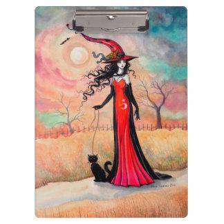 秋の散歩のハロウィンの魔法使いのファンタジーの芸術 クリップボード