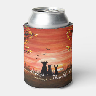 秋の日没 缶クーラー