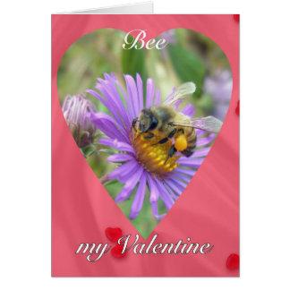 秋の星状体のバレンタインの蜜蜂 カード