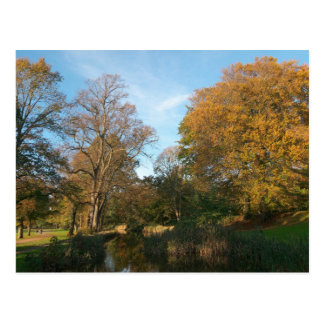 秋の景色のビュート公園カーディフ ポストカード