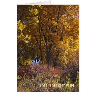 秋の景色ビジネスは感謝していしています カード