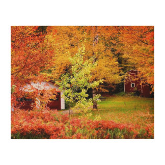 秋の景色 ウッドウォールアート