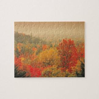 秋の景色、ニューハンプシャー、米国 ジグソーパズル