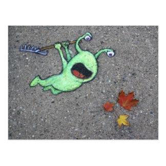 秋の最後の葉 ポストカード