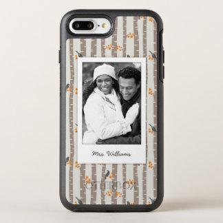 秋の木および鳥との写真及び名前 オッターボックスシンメトリーiPhone 8 PLUS/7 PLUSケース