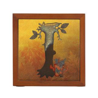 秋の木のモノグラムI ペンスタンド