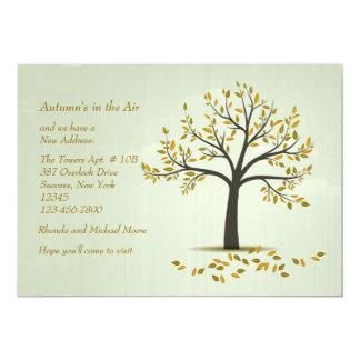 秋の木の移動発表 カード