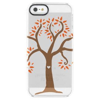 秋の木のiPhoneの場合 クリア iPhone SE/5/5sケース