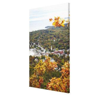 秋の木を通したキャムデンの丘の国家の眺め キャンバスプリント