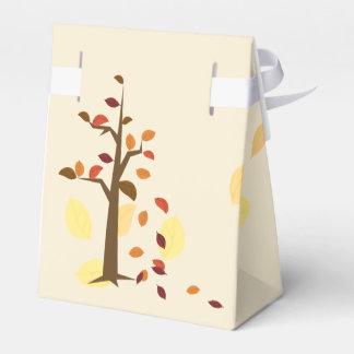 秋の木、秋の結婚式の好意箱 フェイバーボックス