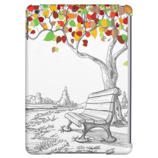 秋の木、落ちる葉 iPad AIRケース