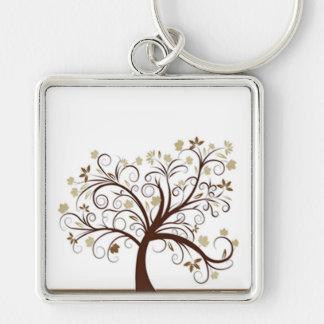 秋の木Keychain キーホルダー