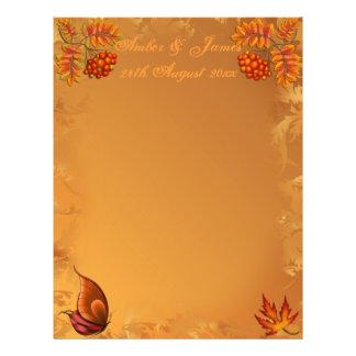 秋の果実のゲストメッセージの紙 チラシ