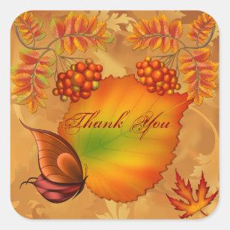 秋の果実は感謝していしています スクエアシール