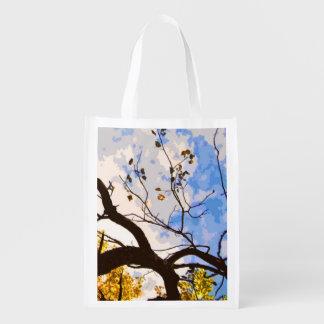 秋の枝抽象的なエコバッグ エコバッグ