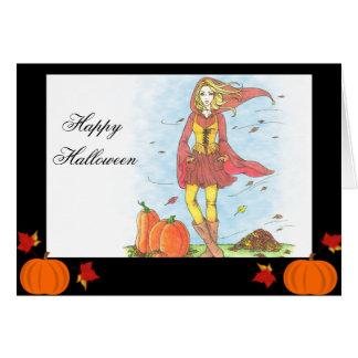 秋の栄光のハロウィンカード カード