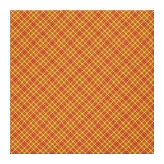 秋の格子縞パターンデザインの質 キャンバスプリント