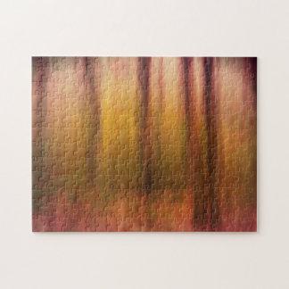 秋の森の汚点の抽象芸術のジグソーパズル ジグソーパズル
