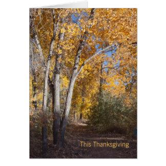 秋の森ビジネスは感謝していしています カード