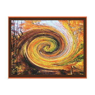 秋の森林キャンバスプリントの旋風 キャンバスプリント