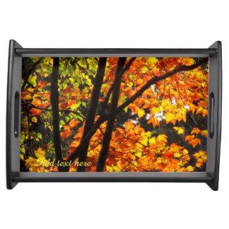 秋の森林サービングの皿 トレー