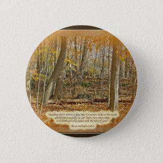 秋の森林ジョージ・ワシントンカーバーの引用語句 5.7CM 丸型バッジ