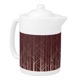 秋の森林茶ポット