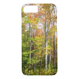 秋の森林I秋の景色の写真撮影 iPhone 8/7ケース