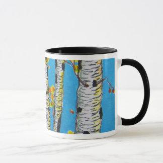 秋の樺の木 マグカップ