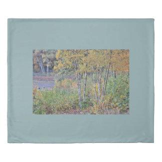 秋の樺の木 掛け布団カバー