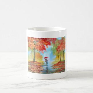 秋の歩行 マジックマグカップ