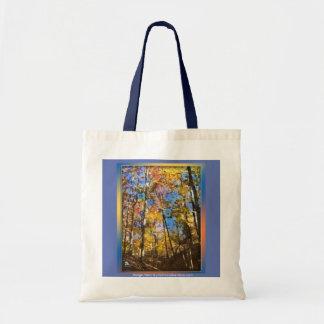 秋の水彩画のしぶき トートバッグ