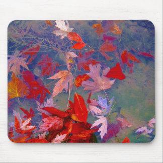 秋の浮遊葉 マウスパッド