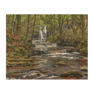 秋の滝 ウッドウォールアート