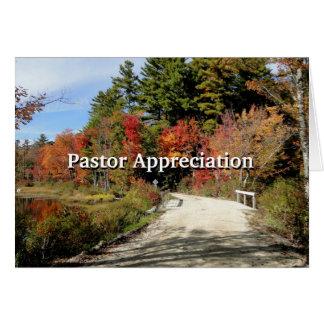 秋の牧師の感謝の聖なる書物、経典の田園橋 カード
