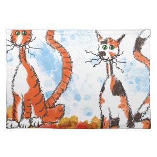 秋の猫 ランチョンマット