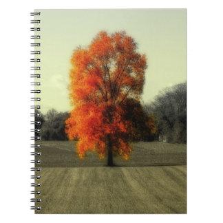 秋の生きている木 ノートブック
