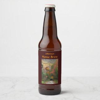 秋の田舎道ビールラベル ビールラベル