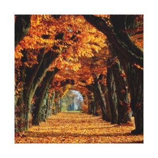 秋の田舎道 キャンバスプリント