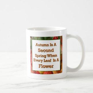 秋の発言 コーヒーマグカップ