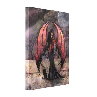 秋の神秘性のゴシック様式ファンタジーの妖精の芸術 キャンバスプリント