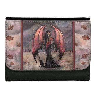 秋の神秘性のファンタジー妖精および猫の芸術 ウォレット