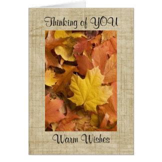秋の秋のコレクションの金葉の挨拶状 カード