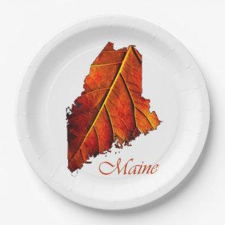 秋の秋の結婚式のブラウンの豊富で深く素朴な色 ペーパープレート