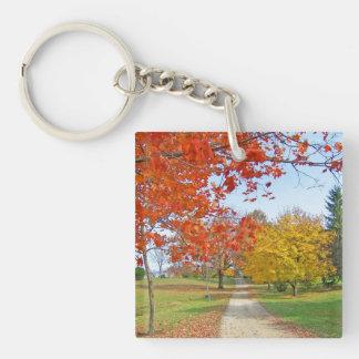秋の秋場面 キーホルダー