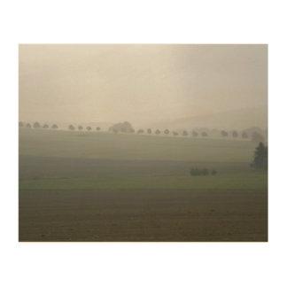 秋の穏やかな景色 ウッドウォールアート