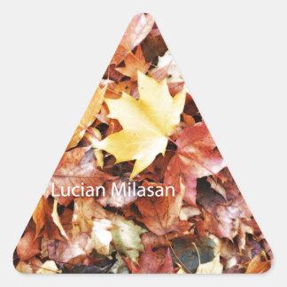 秋の精神 三角形シール